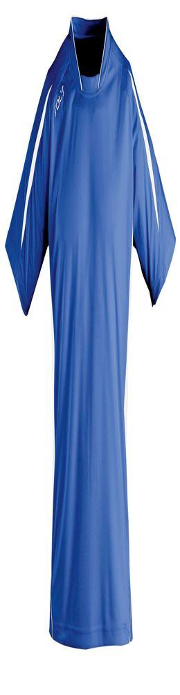 Футболка спортивная MARACANA 140, ярко-синяя с белым фото