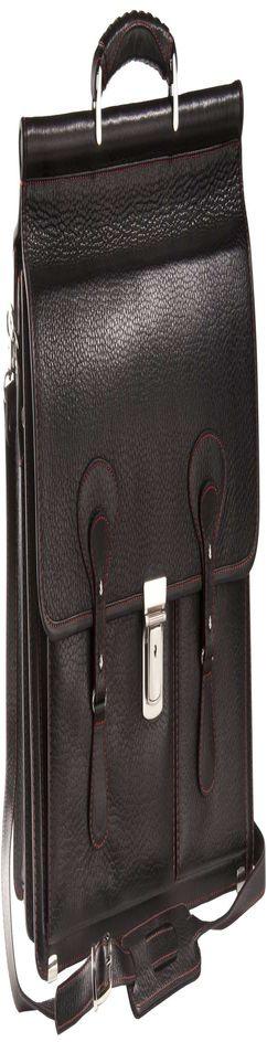 Портфель Viaggi, черный с красной отделкой фото