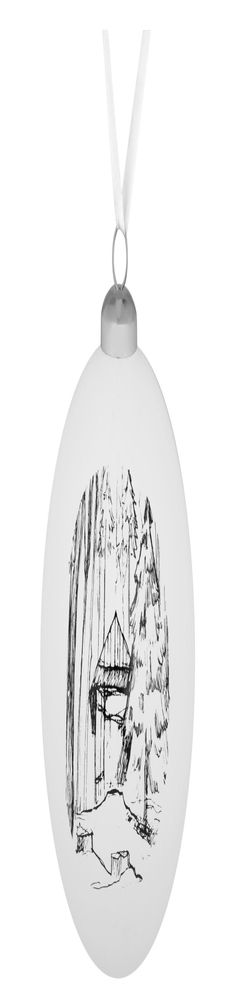 Елочный шар Forest, 10 см, с изображением избушки фото