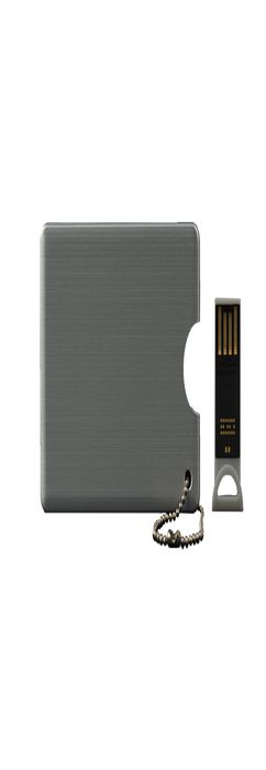 Флешка карточка Визитка мини, металлическая, 4Гб фото