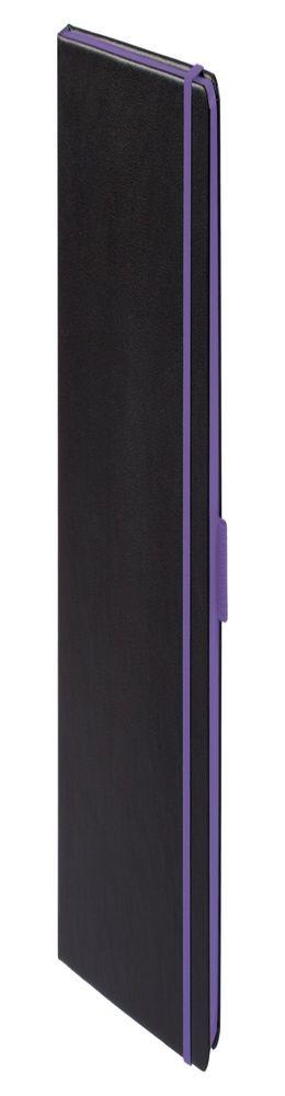 Ежедневник Tone недатированный, черный с фиолетовым фото