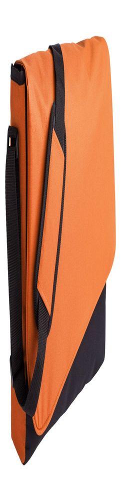 Конференц сумка Unit Messenger, оранжево-черная фото