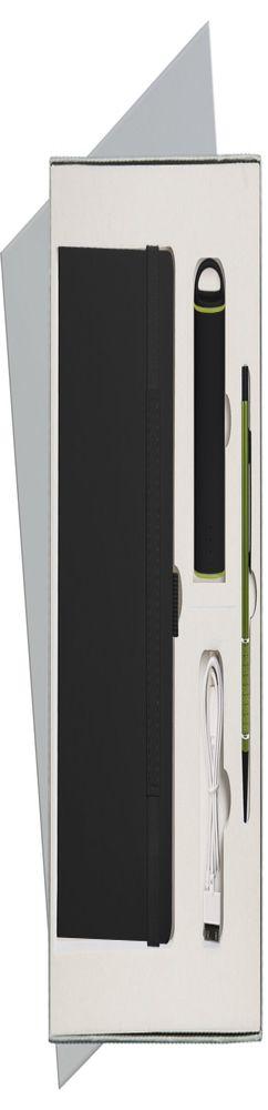 Подарочный набор Portobello/Alpha черный (Ежедневник недат А5, Ручка, Power Bank) фото
