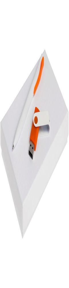 Набор Twist White, белый с оранжевым, 8 Гб фото