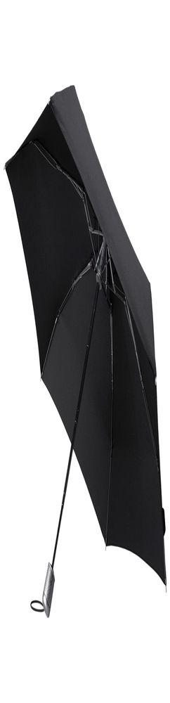 Складной зонт Alu Drop, 4 сложения, автомат, черный фото