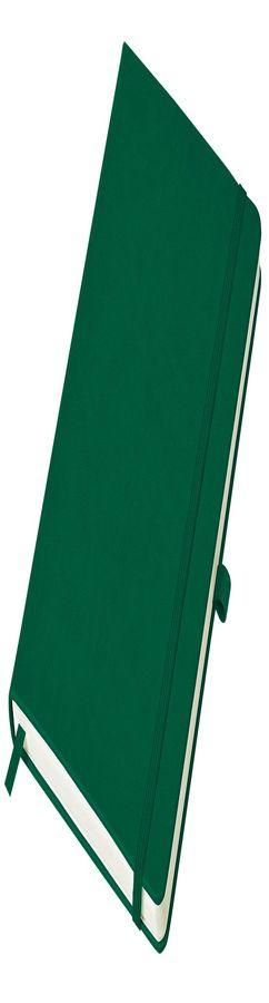 Бизнес-блокнот Justy, А5, в линейку, зеленый фото