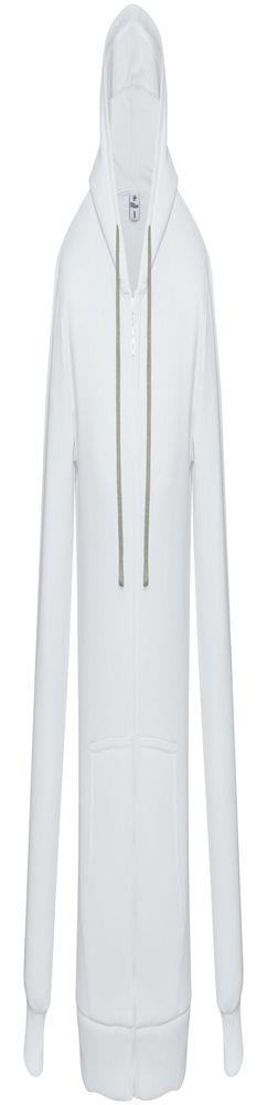 Толстовка на молнии с капюшоном Unit Siverga Heavy, белая фото