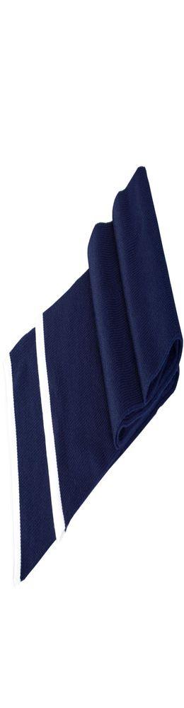 Шарф Leader, темно-синий с белым фото
