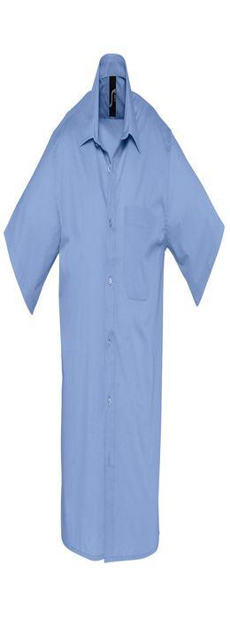 """Рубашка""""Bristol"""", васильковый, 65% полиэстер, 35% хлопок, 105г/м2 фото"""