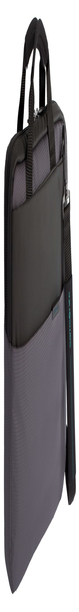 Сумка для ноутбука Qibyte Laptop Bag, темно-серая с черными вставками фото