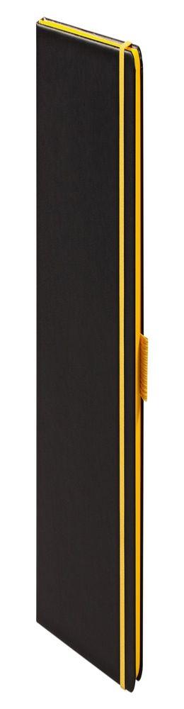 Ежедневник Tone недатированный, черный с желтым фото