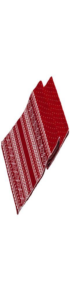 Шарф Lambient, красный с белым фото