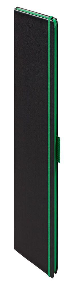 Ежедневник Tone недатированный, черный с зеленым фото
