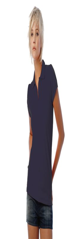 Поло женское Heavymill, темно-синее фото