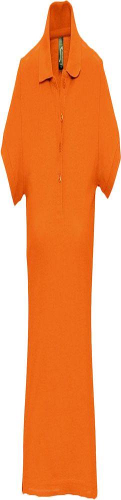Рубашка поло женская PASSION 170, оранжевая фото