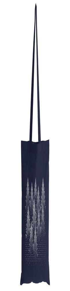 Холщовая сумка Silver Christmas, темно-синяя фото