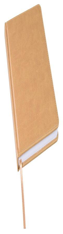 Ежедневник недатированный Bliss, А5,  светло-коричневый, белый блок, без обреза фото
