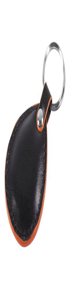 Брелок New Age, черный с оранжевой окантовкой фото