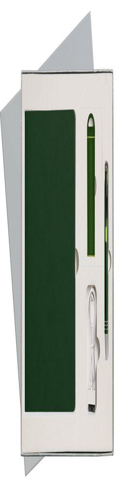 Подарочный набор Portobello/Latte зеленый (Ежедневник недат А5, Ручка, Power Bank) фото