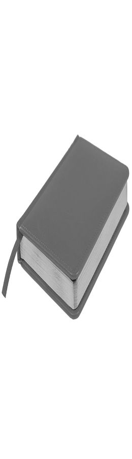 Ежедневник недатированный Joy, А5,  темно-серый, белый блок, серебряный обрез фото