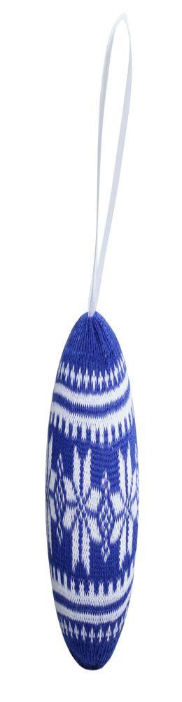 Шар новогодний «Скандик», синий фото