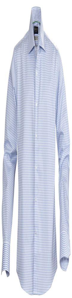 Рубашка мужская в клетку TRIBECA, голубая фото