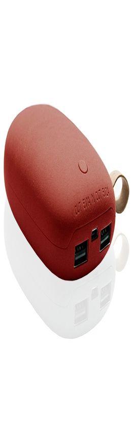 Универсальное зарядное устройство Z135 камень (красный) на 5200 mah фото