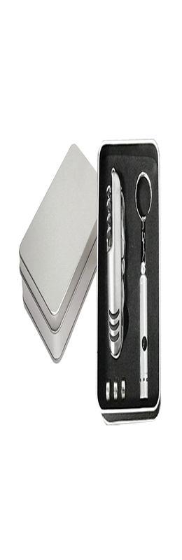 Набор: многофункциональный нож 11 в 1 и фонарик-брелок фото