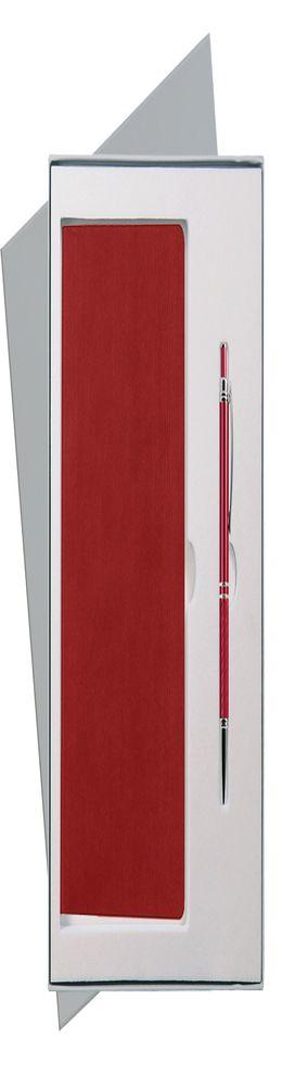 Подарочный набор Portobello/Rain красный (Ежедневник недат А5, Ручка) беж. ложемент фото
