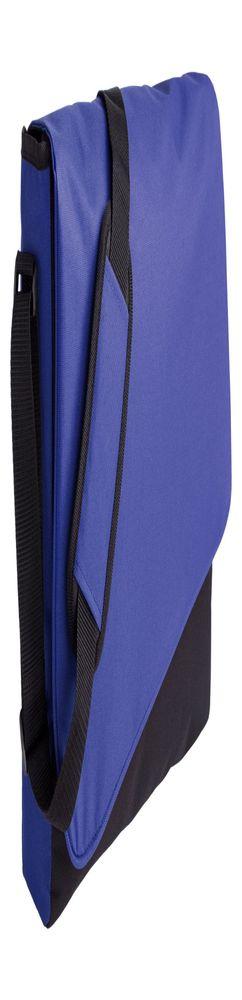 Конференц сумка Unit Messenger, сине-черная фото