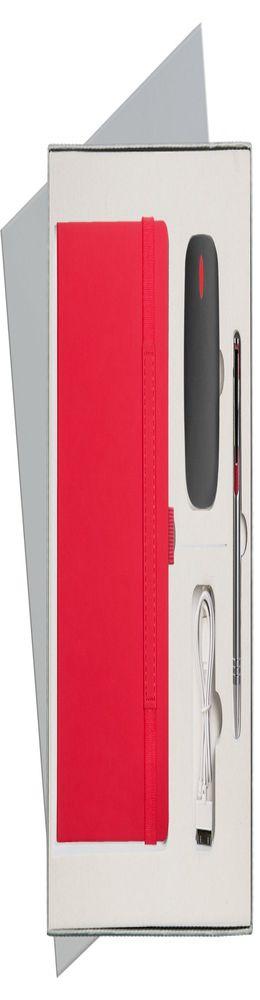Подарочный набор Portobello/Alpha красный (Ежедневник недат А5, Ручка, Power Bank) фото