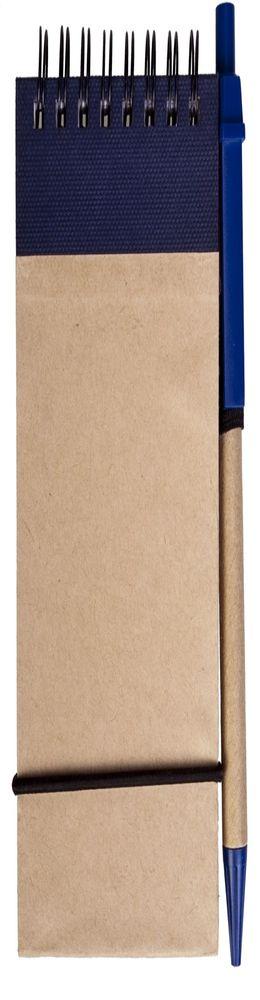 Блокнот на кольцах, Eco note с авторучкой, синий фото