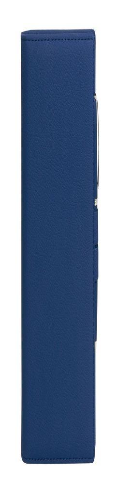 Ежедневник-портфолио Clip, синий, эко-кожа, недатированный кремовый блок + ручка Opera (синий/хром), подарочная коробка фото