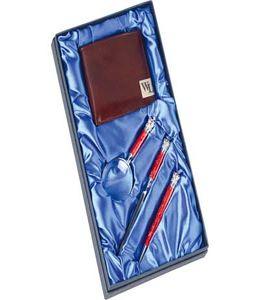 Набор William Lloyd: портмоне, ручка шариковая, лупа, нож для бумаг «Принц Уэльский» фото
