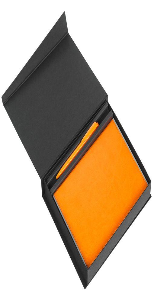 Коробка Duo под ежедневник и ручку, черная фото