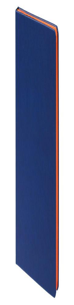 Ежедневник Blues недатированный, синий с оранжевым фото