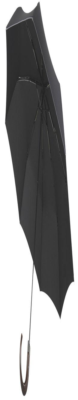 Складной зонт Wood Classic, черный, без чехла фото