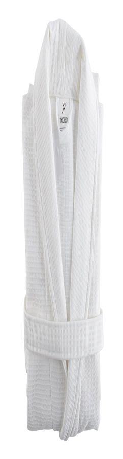 Халат банный белого цвета фото