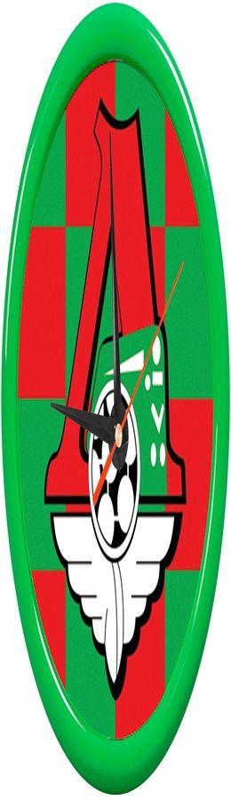 """Часы настенные """"PRINT"""" разборные ;  зеленый, D24,5 см; пластик/стекло  фото"""
