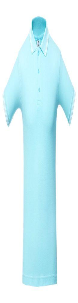 Рубашка поло Virma Stripes, бирюзовая фото