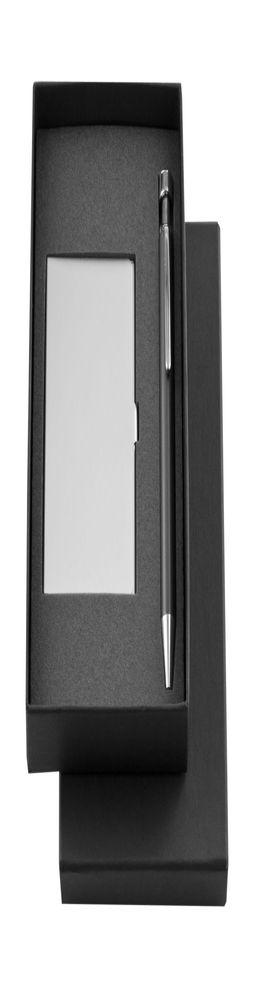 Подарочный набор Joint: футляр для визиток и шариковая ручка, черный фото