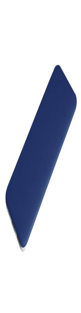 Внешний аккумулятор, Slim PB, 5000 mAh, пластик, покрытие-soft touch, 67х150х10 мм, 123 гр, синий/белый, подарочная упаковка фото