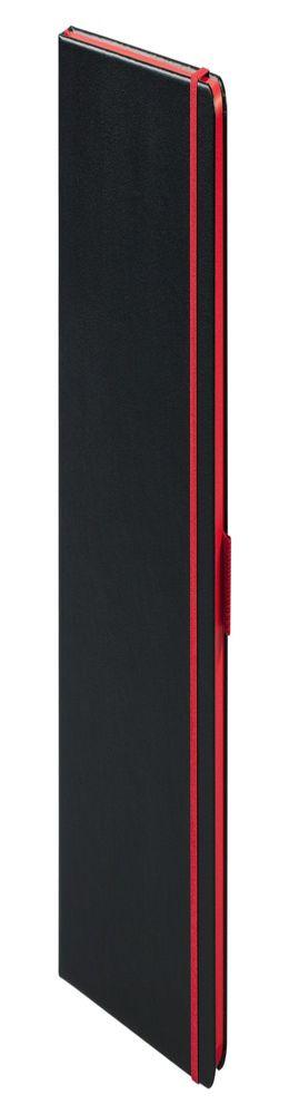 Ежедневник Tone недатированный, черный с красным фото