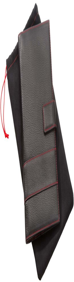 Органайзер дорожный Viaggi, черный с красной отделкой фото