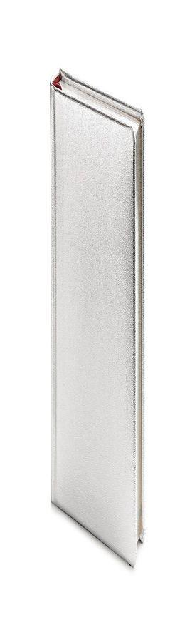 Ежедневник полудатированный Cult Silver, А6+, серебристый,  серебряный обрез, два ляссе  фото