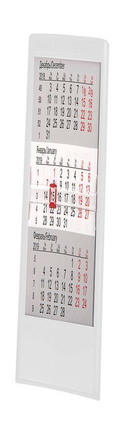 Календарь настольный на 2 года ; белый; 12 х16 см; пластик; тампопечать, шелкография фото