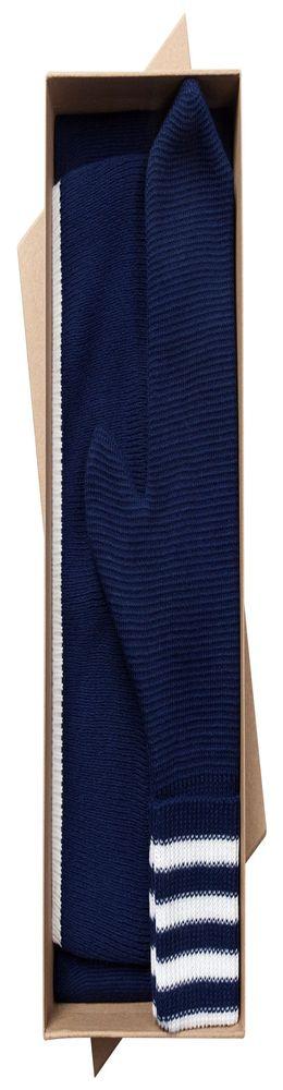 Набор Best: шапка, шарф и варежки, темно-синий фото