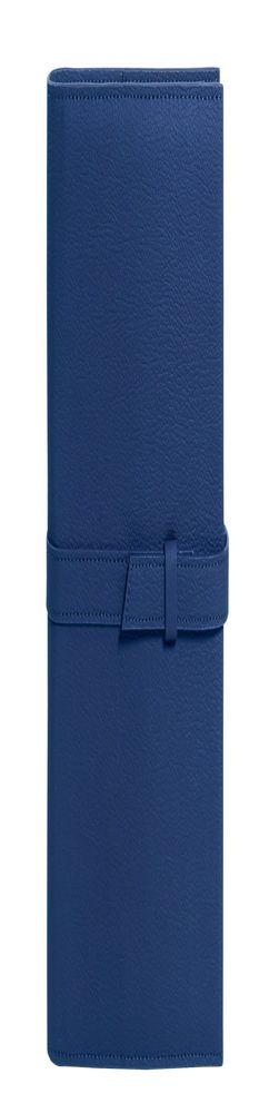 Ежедневник-портфолио River, синий, эко-кожа, недатированный кремовый блок, подарочная коробка,синий фото
