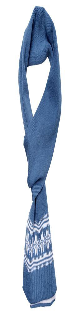 Шарф «Скандик», синий (индиго) фото