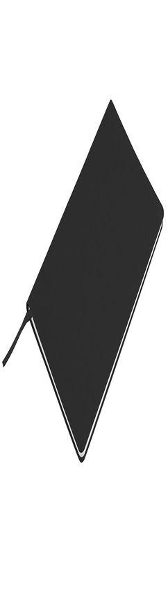 """Бизнес-блокнот """"Audrey"""", 130х210 мм, черный, кремовая бумага, гибкая обложка, в линейку фото"""